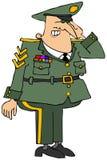 Het militaire ambtenaar groeten vector illustratie