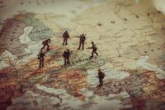 Het militaire conflict van de Oekraïne, van Rusland en van eurounionlanden Geopo stock foto's