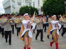 Het militaire fanfarekorps presteren Stock Fotografie