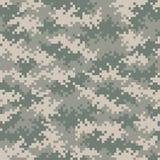 Het militaire foutloos tileable patroon van het camouflagepixel Stock Foto