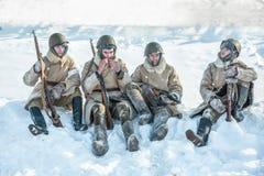 """Het militaire historische weer invoeren """"Prestatie van Alexander MatrosovÂ"""" stock afbeelding"""