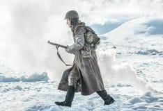 """Het militaire historische weer invoeren """"Prestatie van Alexander MatrosovÂ"""" royalty-vrije stock foto"""