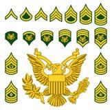Het militaire Leger wierf Weelderige Insignes aan royalty-vrije illustratie