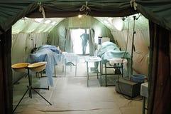 Het militaire mobiele ziekenhuis Royalty-vrije Stock Fotografie