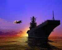 Het militaire schip vector illustratie