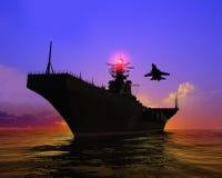 Het militaire schip royalty-vrije illustratie