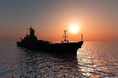 Het militaire schip Stock Afbeelding