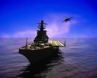 Het militaire schip stock illustratie
