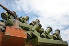 Het militaire systeem van de rookafleiding Stock Fotografie