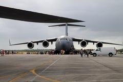 Het militaire vrachtvliegtuig van de V.S. Stock Foto