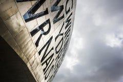 Het Millenniumcentrum van Wales, Cardiff stock afbeelding