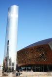 Het Millenniumcentrum van Wales en de Watertoren, Cardiff royalty-vrije stock fotografie