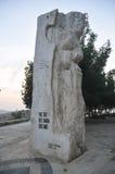 Het millenniummonument, zet Nebo in Jordanië op Stock Fotografie