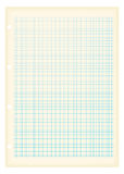 Het millimeterpapierblauw van Grunge a4 Stock Afbeelding