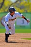 Het minder belangrijke honkbal van de Liga baserunner Stock Foto's