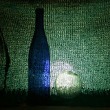 Het mineraalwater van het glas bottle Royalty-vrije Stock Foto