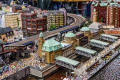 Het miniatuurdok van Hamburg - het Museum van het Sprookjesland stock afbeeldingen