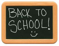 Het MiniBord van het kind - terug naar School stock afbeelding