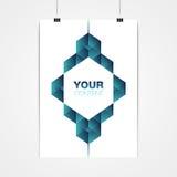 A4 / A3 het minimale abstracte ontwerp van de formaataffiche met uw tekst royalty-vrije illustratie