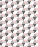 Het minimale geometrische semless patroon in pastelkleur roze tonen, ideaal voor textiel verlaagt zich royalty-vrije illustratie