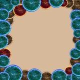 Het minimale oranje fruit van c, abstract art. Royalty-vrije Stock Foto
