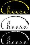 Het minimalistische van letters voorzien van van het bedrijfs kaasontwerp embleem Stock Foto's