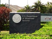 Het Ministerie van de V.S. van de Veiligheid van het Geboorteland - Teken Royalty-vrije Stock Afbeeldingen