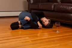 Het misbruik van de alcohol royalty-vrije stock afbeelding