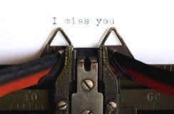 Het missen van u. Stock Fotografie