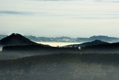 Het mistige Meer van Konstanz Royalty-vrije Stock Foto's