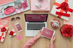 Het mobiele betalingen en winkelen Royalty-vrije Stock Fotografie