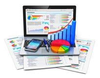 Het mobiele concept van het bureauwerk Stock Afbeelding