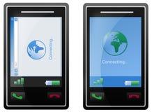 Het mobiele de telefoonscherm van Internet Stock Foto