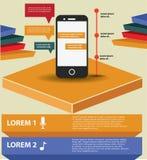 Het mobiele ontwerp van telefooninfographics Royalty-vrije Stock Fotografie