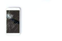 Het mobiele telefoonscherm is gebroken royalty-vrije stock afbeeldingen