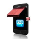 Het mobiele Winkelen Stock Afbeeldingen