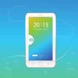 Het mobiele wit en slotscherm Royalty-vrije Stock Afbeelding