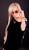 Het model dragen zonnebril royalty-vrije stock foto