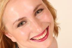 Het model glimlachen Stock Foto's
