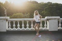 Het model van de blonde Royalty-vrije Stock Afbeeldingen