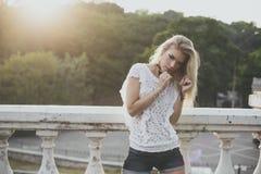 Het model van de blonde Royalty-vrije Stock Fotografie