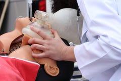 Het model leidt op om Cardiopulmonale reanimatie te doen Royalty-vrije Stock Afbeeldingen