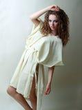 Het model met perfect maakt omhoog in tatters Stock Fotografie