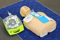 Het model van AED Stock Foto's