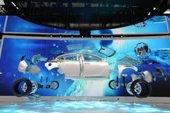 Het model van automobiele interne structuur in de cabine van Buick Stock Afbeeldingen