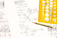 Het model van Bohr in fysica stock fotografie