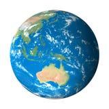 Het Model van de aarde van Ruimte: De Mening van Australië Stock Afbeeldingen