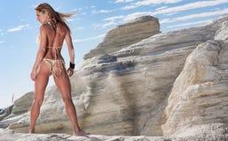 Het model van de bikini Stock Fotografie