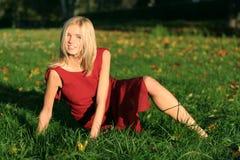 Het model van de blonde Stock Fotografie