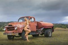 Het model van de blonde Stock Foto's